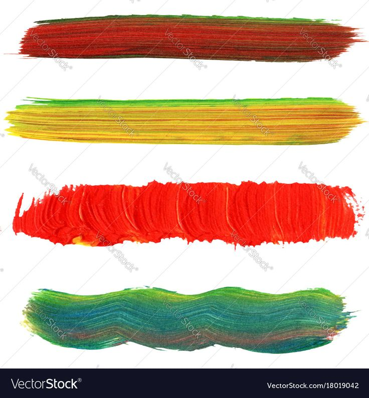 A set of paint brush strokes, colored. Download a Free Preview or High Quality Adobe Illustrator Ai, EPS, PDF and High Resolution JPEG versions.