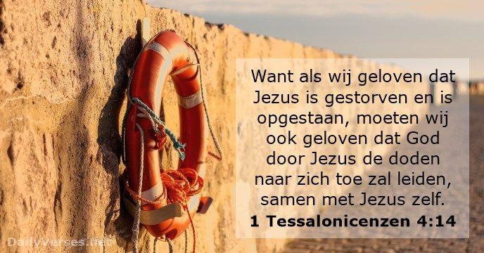 1 Tessalonicenzen 4:14 - dailyverses.net