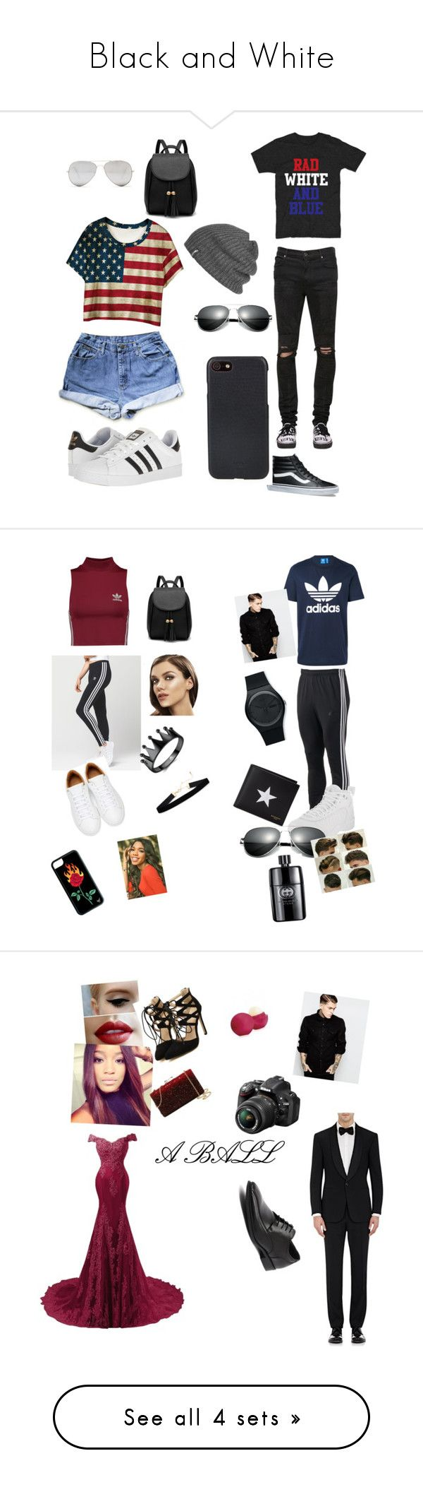 """""""Black and White"""" by ashley2503 ❤ liked on Polyvore featuring WithChic, adidas, Sunny Rebel, RtA, Vans, Shinola, Outdoor Research, adidas Originals, Dunn and Swatch"""