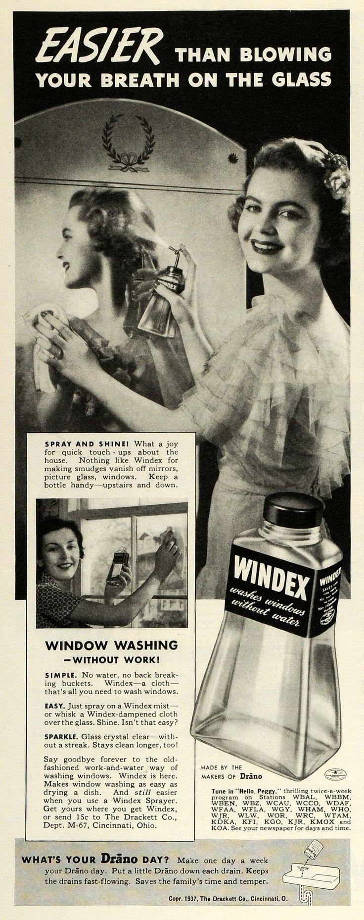 Vintage bathroom ads - Windex 1937 Grinning Like A Fool About Washing Windows Yes I Actually Like Retro Advertisingretro Adsvintage