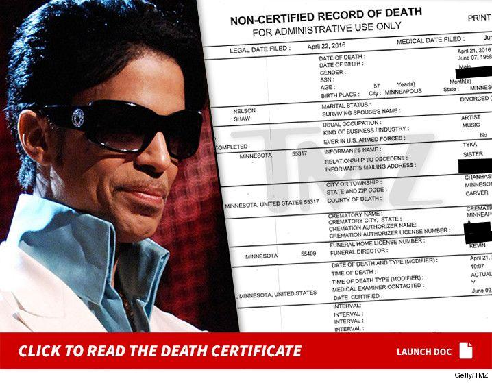 Prince -- Death Certificate (DOCUMENT) - http://blog.clairepeetz.com/prince-death-certificate-document/