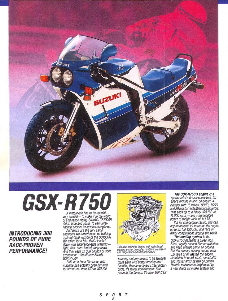 The original...1985 Suzuki GSX-R 750 #Motorcycle #Sportsbike #Suzuki