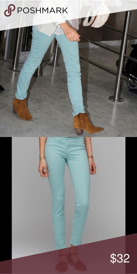 """• """"Juniper"""" Mint Seafoam J Brand Skinny • These are to die for  One of a kind of skinny jeans that can easily make the transition from spring to summer to fall… No problem! J Brand Jeans Skinny"""