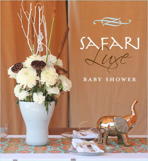 Elegant Safari Baby Shower: REAL PARTIES: Safari Luxe Baby Shower