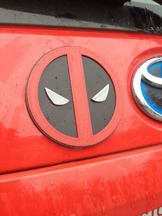 Fanart 3D printed red/black Deadpool car by TheMeansOfProduction