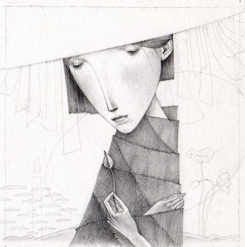Unfinished drawing from Gustav Klim