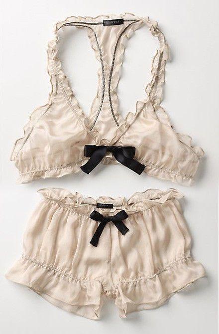 ANTHROPOLOGIE undrest silk bralette & brief 2 | Одежда, обувь и аксессуары, Одежда для женщин, Нижнее белье и одежда для сна | eBay!