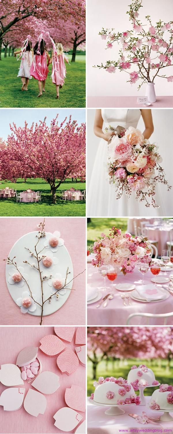 Cherry Blossom Themed Wedding bouquet pictures. I wish these flowers were down south! My absolute favorite