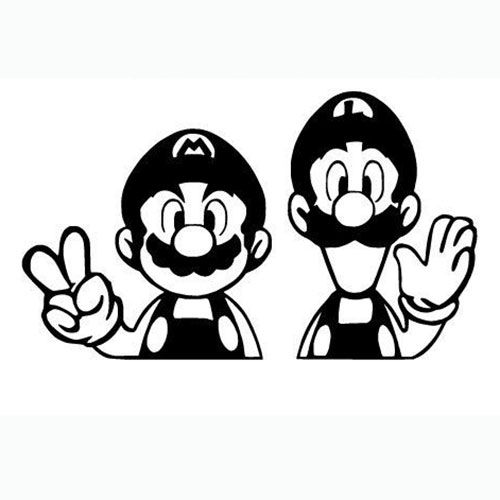 Mario Bros Laptop Car Truck Vinyl Decal Window Sticker ...