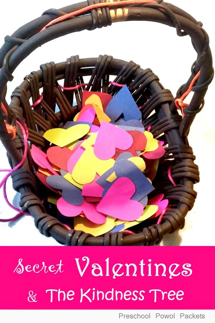 Secret Valentines Service and Kindness Tree! | Preschool Powol Packets