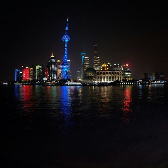 Pudong district from huangpo river