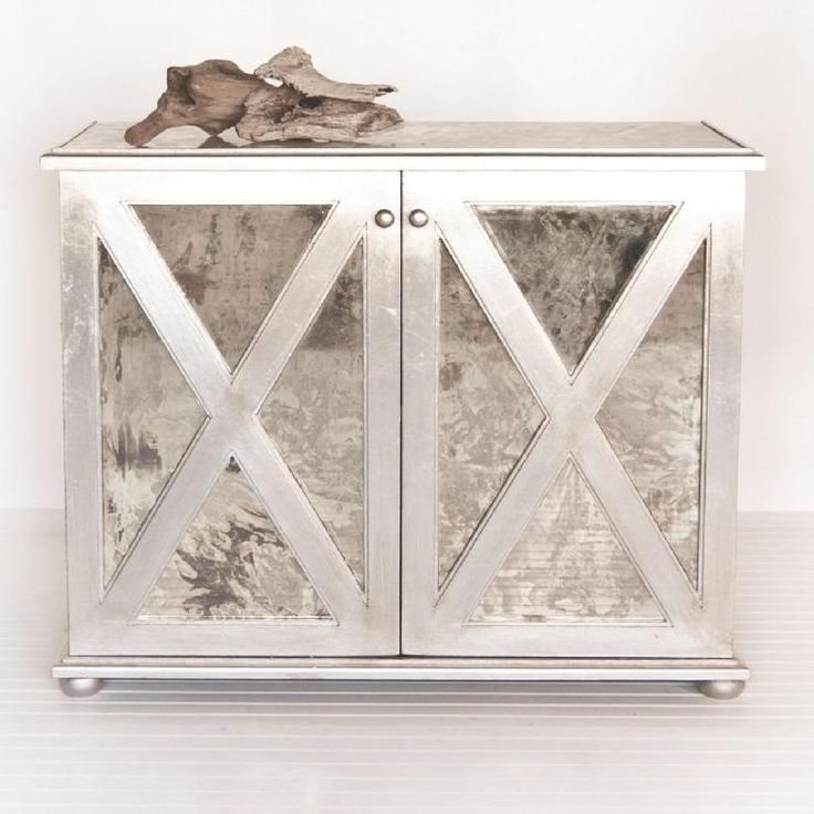 How To Gold Leaf Furniture | Furniture   Worlds Away Large Reverse Mirror  Chest In Silver