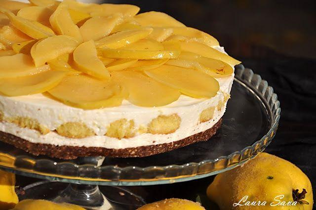 Cheesecake cu gutui, fara coacere | Retete culinare cu Laura Sava