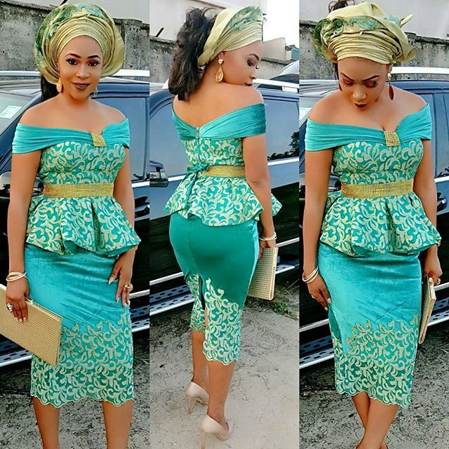 Slayed! #slayitsaturday @shadebonnie #outfitby @house_of_dova Makeup nd gele by @glamtouch1