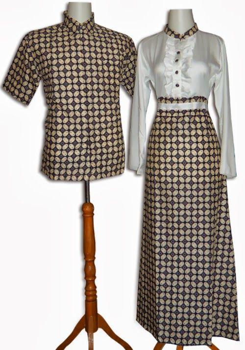 Model Baju Batik Gamis Pasangan