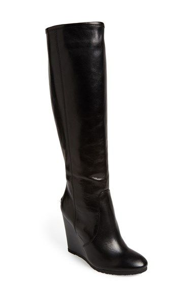 You know, if winter didn't mean ice.  COACH 'Della' Knee-High Wedge Boot (Women) available at #Nordstrom