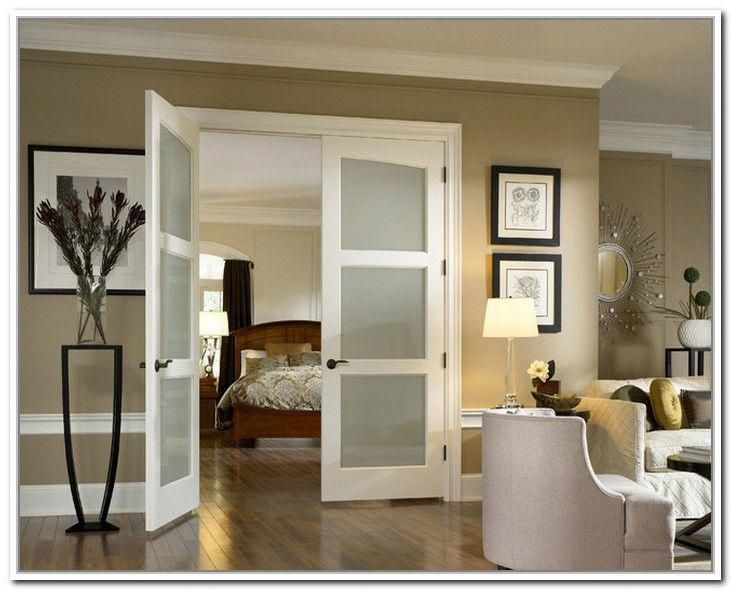 Interior French Doors Frosted Glass Photo 6 In 2020 Double