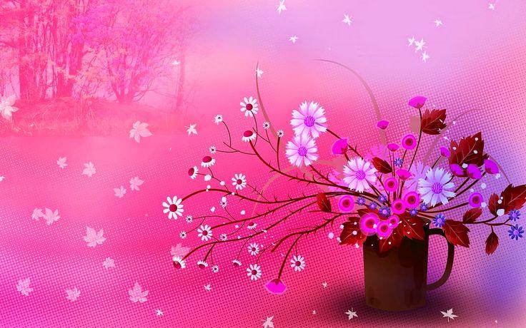 bloemen iphone achtergronden roze-#12