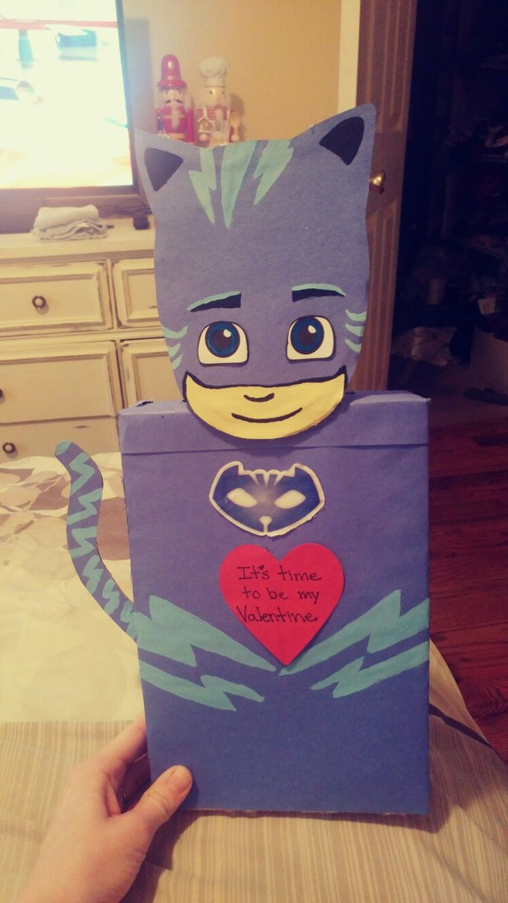 Pj masks catboy Valentine's card box