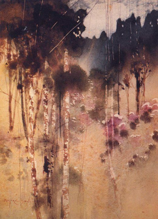 "Blamire YOUNG ""Myrtles and Pines, Tasmania"" 1912"