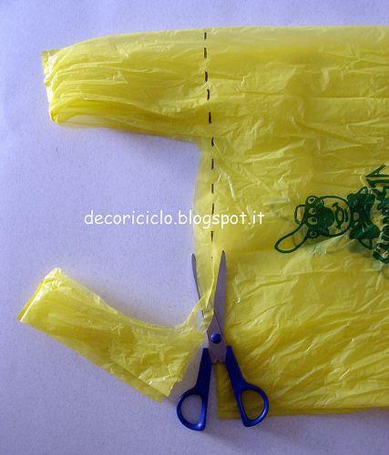 tutorial fettuccia da sacchetti di plastica 2