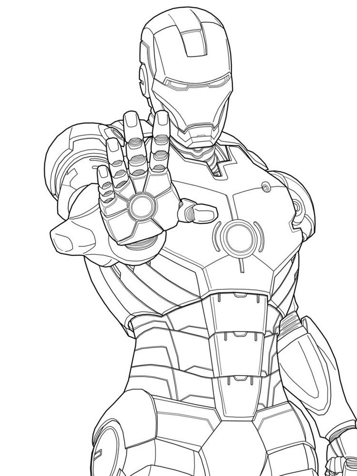 Iron Man Marvel Coloring Pages Kids Free Printable For Adult