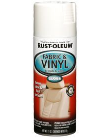 Rust-Oleum Fabric & Vinyl is a flexible coating that restores color on vinyl, simulated leather and some fabrics. Ideal for furniture, luggage, car seats, etc.