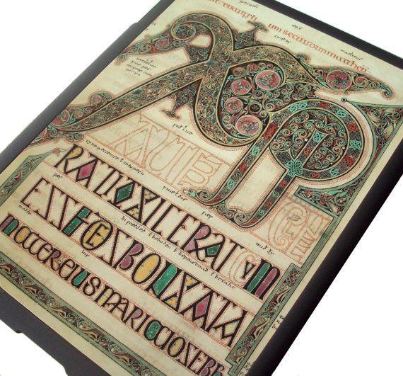 iPad 2 case  Lindisfarne Gospels by GelertDesign on Etsy, £10.00
