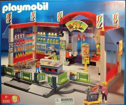 playmobil 3200 grocery store supermarket food city life. Black Bedroom Furniture Sets. Home Design Ideas