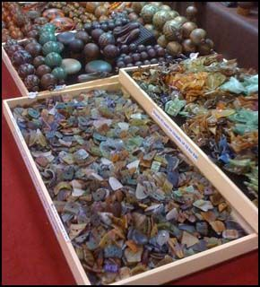 Make Your Own Sea Glass from used glass bottles, etc. - easy and fun to do - You can use it make your own jewelry, mosaics, or whatever! <.