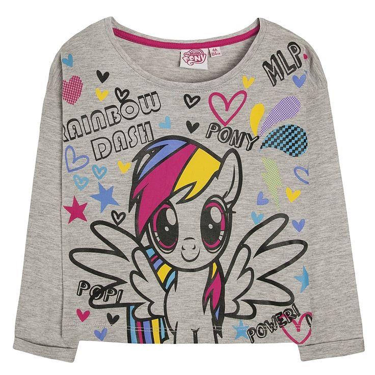 T-shirt dziewczęcy z długim rękawem, My Little Pony