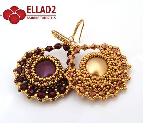 Tutorial Alma Earrings by Ellad2 on Etsy Pinned by @Manaro Design  Jewelry | Beading | Bracelet | Necklace | Earrings
