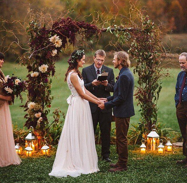 It's Sunday  you know what that means... we're regramming your photos all day! First up this gorgeous fall-inspired rustic arbor from @acampbell32's vineyard wedding!  #theknot #regramsunday  via @rebekahjmurray via @angela4design