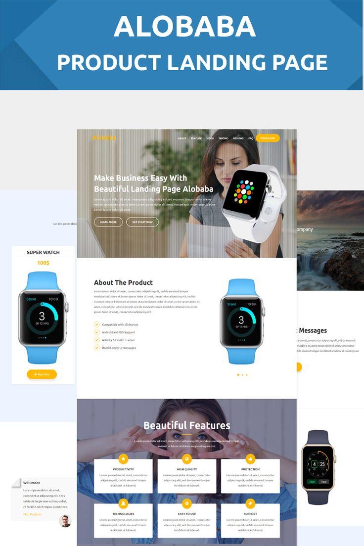 Alobaba - Product Landing Page Template Big Screenshot