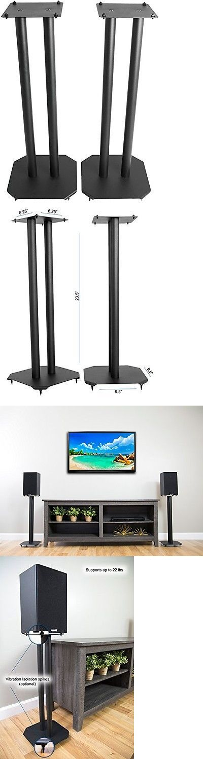 Speaker Mounts and Stands: Vivo Premium Universal Floor Speaker Stands For Surround Sound And Book Shelf -> BUY IT NOW ONLY: $55.59 on eBay!