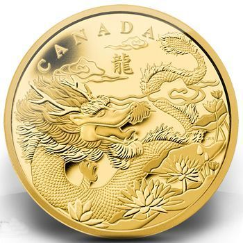 Royal Canadian Mint Dragon Gold Coin 2012 | lunaticg banknote & coin #GoldCoins