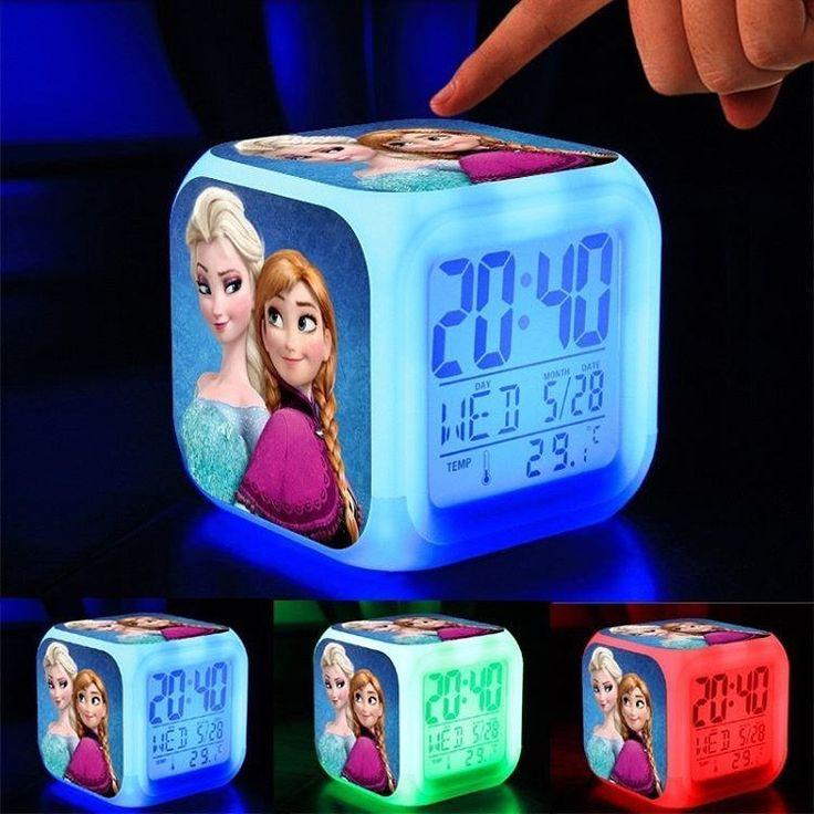 https://flic.kr/p/SGTUPA | Frozen Elsa Temalı, Termometreli, Led Işıklı Dijital Masa Saati .. Çocuklarınız için mükemmel bir hediye. Hem başucu lambası hem termometre hem de saat.  #frozen #elsa #karlarülkesi #elsakostüm # frozenkostüm #prenseselsa #clashroyale #Supercell #Saat #Ma