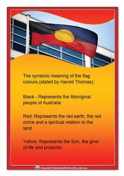 Ever country has a flag which represents the place and it's people. This would be a great resource to teach foundation students about Aboriginal place.