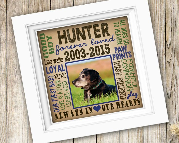 Dog Memorial Gift ~ Personalized Custom Printable In Loving Memory Pet Art ~ Digital Image JPEG ~ Dog Remembrance Pet Memorial Forever Loved by SubwayStyle on Etsy