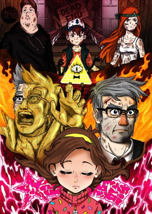 Stanley, Stanford, Gravity Falls, and Anime FanArt