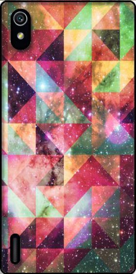 Cover Space Pattern Galaxy per Huawei Ascend P7