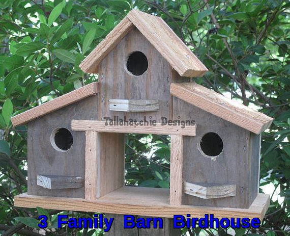 Birdhouse Rustic Birdhouse Primitive Barn by TallahatchieDesigns