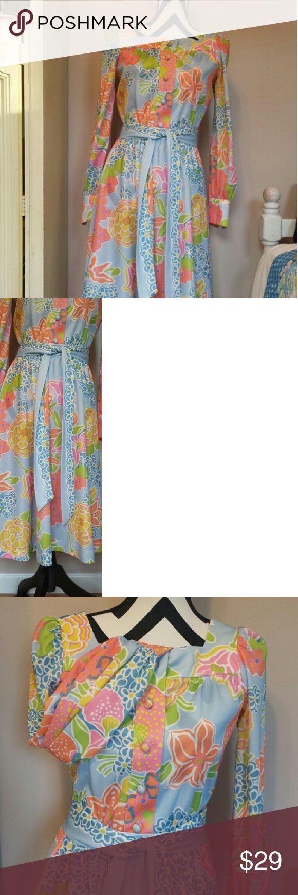 Vintage Pastel Polyester Vintage Joan Sparks Design Alamor skirt, blouse and belt in a  gorgeous pastel vintage design. I will need to take measurements, but I believe it fits like a 4. Vintage Skirts A-Line or Full