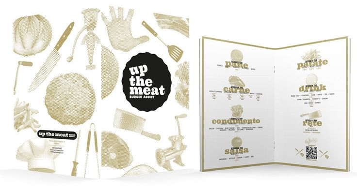 Up The Meat: Corporate Identity | Michele Franzese #michelefranzese #theredislove #rosso #corporate #identity #logo #design #upthemeat #meat #burgers #restaurant #chain