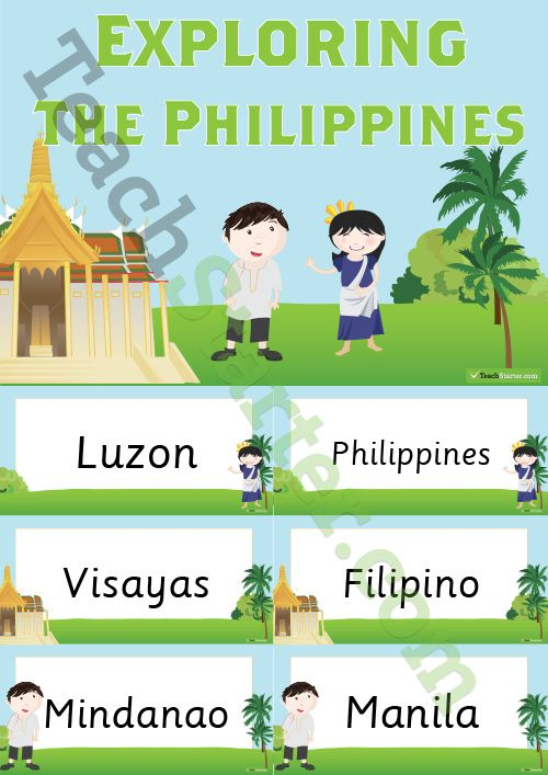 Exploring the Philippines Word Wall Teaching Resource