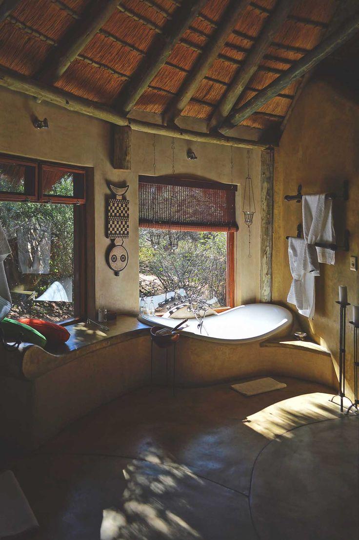 Okonjima Bush Suite - one of the bathrooms   heneedsfood.com
