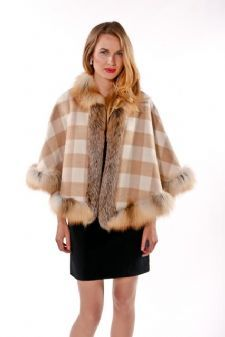 100% Reversible Plaid Cashmere Capes are sold in all colors at MadisonAveMall! $995 (click picture to see reverse side)