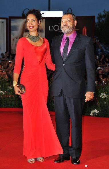 Gina Torres & hubby Laurence Fishburne