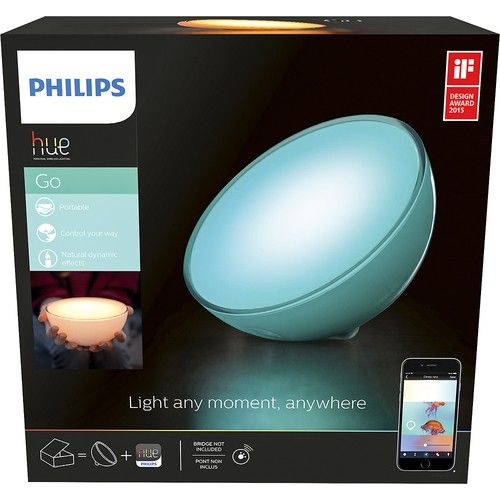 Philips hue Go Personal Wireless Lighting System: Enjoy 16 million different colors of light with this LED lighting system, which can be controlled from your compatible smartphone or tablet and taken along with you for indoor and outdoor use.