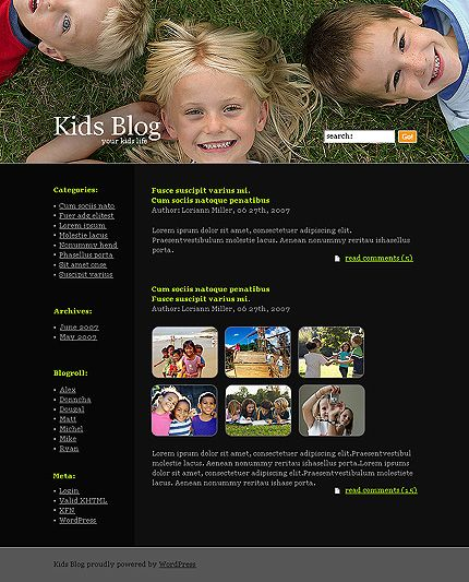Kids Blog WordPress Themes by Ares
